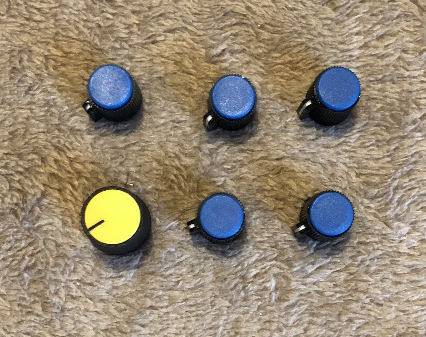 Excalibur Knobs - Aftermarket Style - Small Blue